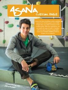 Asana Advertisement in California Climber Magazine, Winter 2015